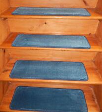 14 Step 9'' x 29'' Landing 31'' x 29'' Tufted carpet Wool Stair Treads Premiun .
