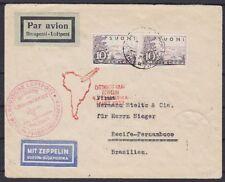 Finnland Zeppelin MeF LZ127 4 Südamerikafahrt Zuleitungspost Brief - Berlin 1932