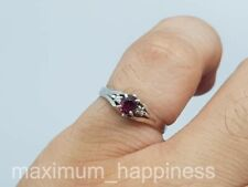 .32 CT RUBY WITH DIAMONDS SOLID PT900 PLATINUM LADIES RING - SIZE 6 - AUTHENTIC