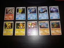 Pokemon SoulSilver Japanese 10 Holo Card COMPLETE Set Lot LP-HP Pichu Raichu
