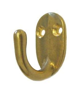 Coat hook, brass or chrome, single hook 22000x