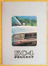Peugeot 504 Coupé Cabriolet - Prospekt Brochure Modelljahr 1981 (deutsch)