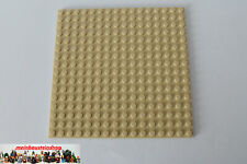 1X Lego® 91405 Grundbauplatte 16X16 beidseitig Beige Tan NEU
