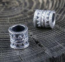 Viking BEARD SILVER Ring Moustache Vikings Pagan Rings Bead Beads Ag Jewelry
