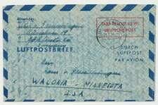 Bund Luftpostleichtbrief LF 4 gebraucht MÜNCHEN 9.6.50 n. USA (45923)