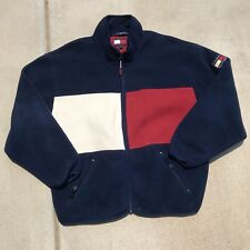 Vintage Tommy Hilfiger Big Flag Fleece Big Logo Rare 90s 3M Patch Sz XXL