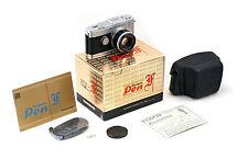OLYMPUS Pen-F body w/ 38mm 1.8 in original box. NICE!!! 35mm half frame 18x24