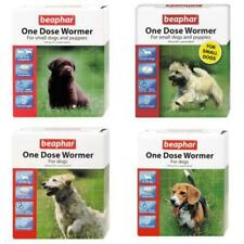 BEAPHAR One Dose Dog Puppy Wormer Worming Roundworm Tapeworm Treatment Tablets