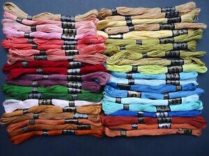 40 Vintage DMC Cross Stitch / Embroidery Thread