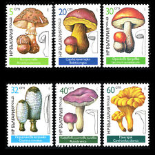 Bulgaria 1987 - Mushrooms Flora Plants - Sc 3232/7 MNH