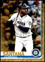 Domingo Santana 2019 Topps Update 5x7 Gold #US237 /10 Mariners