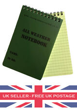 A6 Waterproof All Weather Notepad Notebook Note Pad Book Army Cadets Camping UK