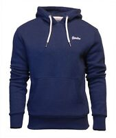 Superdry Mens New Orange Label Overhead Long Sleeve Pullover Hoodie Blue