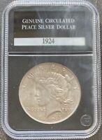 USA 1924 Peace Dollar PCS Genuine Circulated Selten Silber  #23025