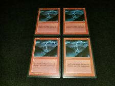 MTG 4x Revised red uncommon LP French FBB Lightning Bolt - ships w/ tracking