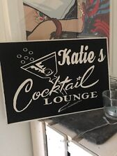 Personalised Cocktail Bar Party Drink Novelty Gift Wooden Hanging Plaque Sign