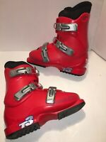 SALOMON Performa T3 downhill alpine Red Ski Boots 23.5 US 5 Red/Black Jr Youth