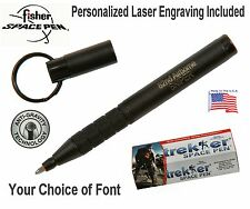 Personalized Fisher Space Pen #725B Matte Black Trekker  Pen / Gift Boxed