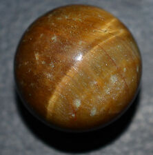 "Tiger Eye Marble Hand Ground Banded Agate Sphere Mint 13/16""   MAR325"