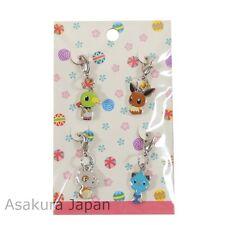 Pokemon Center Japanese Traditional Design Kokeshi Metal Charm Eevee Natu Cubone