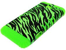 Green Zebra on Lime Silicone Hybrid Cover Case for Motorola Droid RAZR M XT907