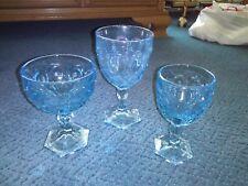 vintage fostoria light blue moonstone glasses lot of 23 water sherbet juice euc