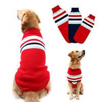 Winter Dog Sweater Jacket Knitted Warm Medium Large Dog Jumpsuit Coat XL 2XL 3XL