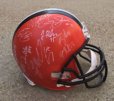 CLEVELAND BROWNS TEAM Signed Autographed Football Helmet COA! HADEN/MCCOWN++