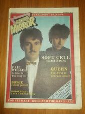 RECORD MIRROR NOVEMBER 21 1981 BOWIE COLOUR POSTER SOFT CELL QUEEN MOTORHEAD