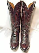 Lucchese since 1883 Mens Cowboy Boots Size 8.5 D Black Cherry color Leather #1BS