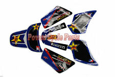 ROCKSTAR PIRELLI GRAPHICS 3M STICKER DECAL YAMAHA PW50 PY50 PEEWEE PW 50