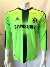 Adidas Samsung Chelsea Football Club Green Black V Neck Polyester Jersey Small