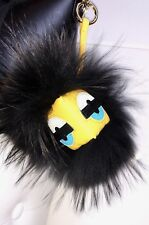 XXL Taschenanhänger Schwarz Charm Monster Finnraccoon Echtfell Pelz Blogger