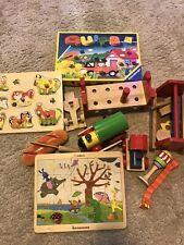 Paket 10 Teile Holz Spielzeug Puzzle Eisenbahn Brotschnitte Ravensburger Quips