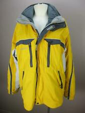 Columbia Size L Mens Yellow Gray Waterproof Breathable 3-in-1 Jacket 872