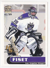 99-00 Pacific Paramount Stephane Fiset 1/99 Holographic SILVER LA Kings 1999