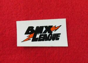VINTAGE BMX LEAGUE STICKER OLD SCHOOL BMX RACING STICKER NOS