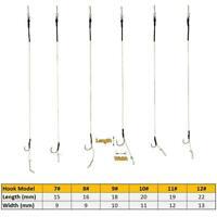 2pcs Haar Rigs Carp Rig Angeln Terminal-Kit #7- #12 # Ready Made Lead Clip