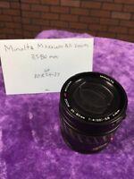 Minolta AF Power Zoom Lens 35-80mm MAXXUM Camera 12505795 Japan