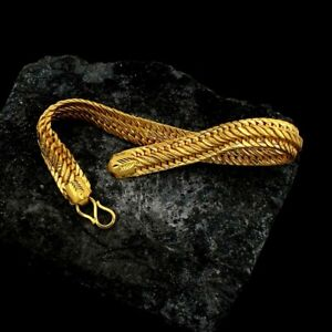 22kt yellow gold customized link chain bracelet hallmarked jewelry India br52