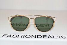 35d13dc4fb12 New Christian Dior AUTH Technologic 1UUO7 Gold Blue 57-14-145 Sunglasses