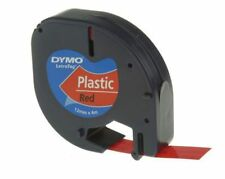 Plastic black on red letratag label tape - New in Box