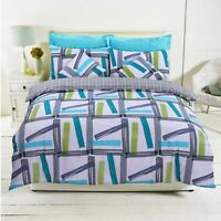 LUXURY MARLOW DUVET COVER QUILT BEDDING SET 100% POLY COTTON SINGLE DOUBLE KING