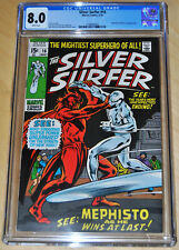 Silver Surfer #16 CGC 8.0 (Mephisto & Nick Fury App) (WHITE PAGES) MORE SURFER!!