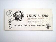 "Vintage ""Reddy Kilowatt"" Advertising Blotter w/ Picture of Thomas Edison   *"