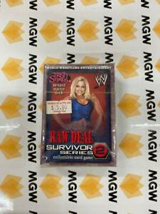 WWE Raw Deal Survivor Series 2 CCG Trish Stratus Brand New Factory Sealed