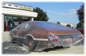 """FORD CAR 1932-1970  12x18""""  plastic car cover, dust, rain, car show 5 COVERS"""