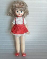 Vintage Nice Tamara Walking Plastic Doll, Paper Label, Moscow-Russia/Ussr, 1970s