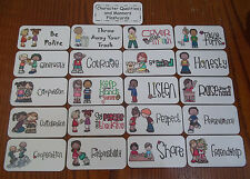 Manners themed Flash Cards. Preschool Picture and Word Flash Cards for children