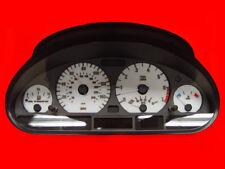 White Gauge Face Overlay For 1999-2005 BMW E46 3 Series 4D Sedan / 5D Wagon